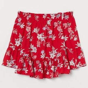 H&M Floral Off-The-Shoulder Peplum Blouse